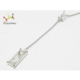 スワロフスキー SWAROVSKI ネックレス 金属素材×スワロフスキークリスタル シルバー×クリア  値下げ 20190810