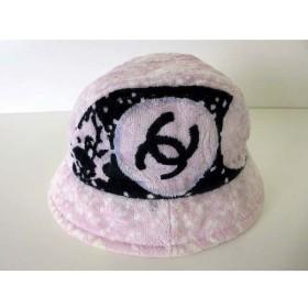 0a7fe2be7f6f シャネル CHANEL ハット クロッシェ 帽子 ぼうし ココマーク パイル M ピンク 黒 ブラック 白 ブランド小物