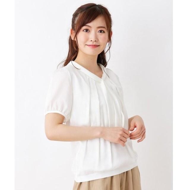SOUP / スープ シルキー切替ボウタイシャツ