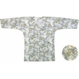 【お祭り用品・衣装】 鯉口シャツ 風神雷神 白 M-LL D5786