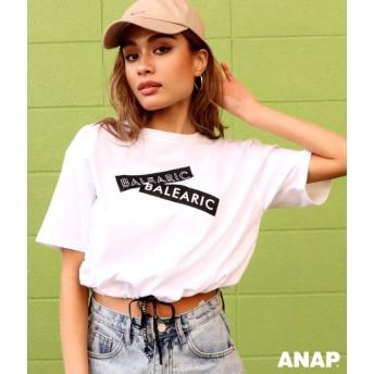 【セール開催中】ANAP(アナップ)BALEARICプリントドロストTシャツ