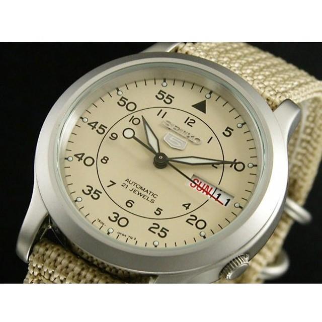 セイコー SEIKO セイコー5 SEIKO 5 自動巻き 腕時計 SNK803K2 ベージュ