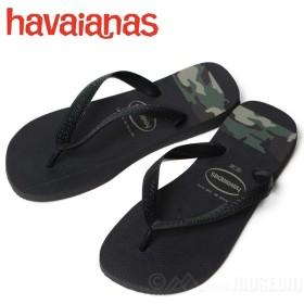 全品ポイント5倍!12/11(水)01:59まで!ハワイアナス Havaianas ビーチサンダル メンズ レディース TOP STRIPES LOGO SAN BLACK/OLIVE GREEN 4132585-0461