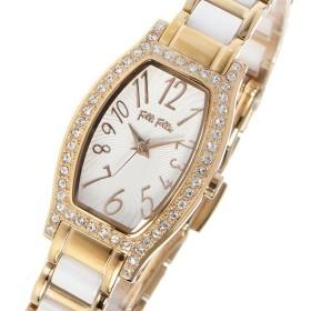 フォリフォリ FOLLI FOLLIE デビュタンウォッチ レディース 腕時計 WF8B026BPW-XX ホワイト ホワイト