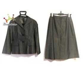 コムサデモード COMME CA DU MODE スカートスーツ サイズ9 M レディース ダークグレー   スペシャル特価 20190901