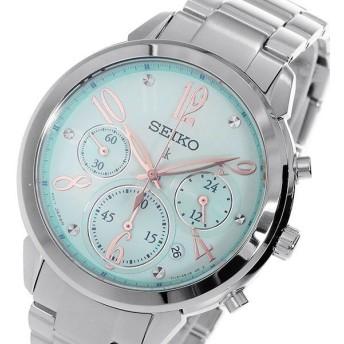 セイコー SEIKO クロノ ルキア クオーツ レディース 腕時計 SRW827P1 ブルー ブルー