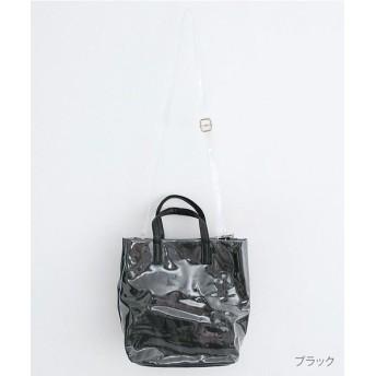 メルロー ラミネートトートバッグ レディース ブラック FREE 【merlot】