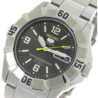 セイコー SEIKO 5 ファイブ 自動巻き メンズ 腕時計 SNZF67J1 ダークグレー/シルバー ダークグレー