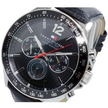 トミー ヒルフィガー TOMMY HILFIGER クオーツ メンズ 腕時計 1791117 ブラック