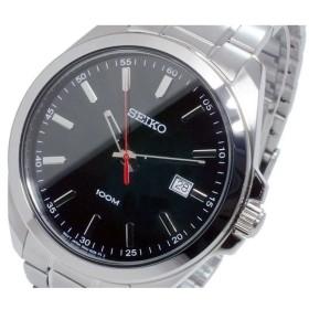 セイコー SEIKO クオーツ メンズ 腕時計 SUR061P1 ブラック