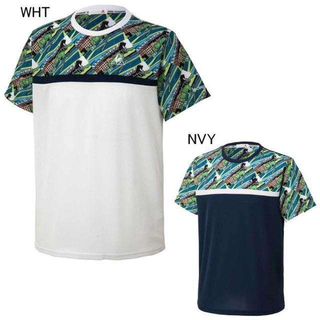 ルコックスポルティフ テニス ユニホーム ゲームシャツ 半袖シャツ le coq sportif QTMMJA03