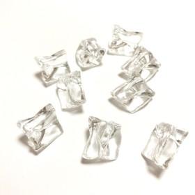 「#3593」 変形 クリア 氷 ビーズ ︎ 8個セット