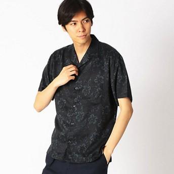 <COMME CA ISM (メンズ)> ダーク アロハプリント オープンカラーシャツ(4732IL18) ブラック 【三越・伊勢丹/公式】