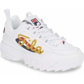 フィラ レディース スニーカー シューズ FILA Disruptor II Signature Sneaker (Women) White/ Navy/ Red
