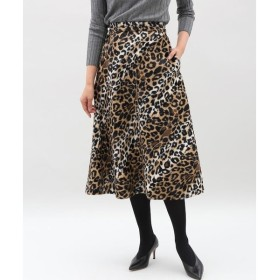 INED / 《SUPERIOR CLOSET》レオパード柄フレアスカート