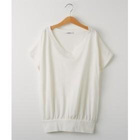 VネックフレンチスリーブTシャツ (Tシャツ・カットソー)(レディース)T-shirts