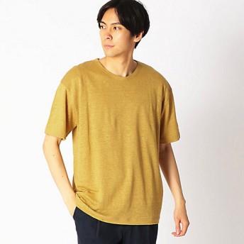 【SALE(三越)】<COMME CA ISM (メンズ)> リネンクルーネックTシャツ(4760TL29) マスタード【三越・伊勢丹/公式】