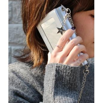 シンシア 〈Kajsa/カイサ〉iPhone 6/7/8 Luxe Folio Case/ リュクス フォリオ ケース ユニセックス シルバー ONE SIZE 【Sincere】