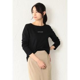 LOVELESS 【LOVELESS】WOMEN ポリクレストロゴロンTシャツ Tシャツ・カットソー,ブラック