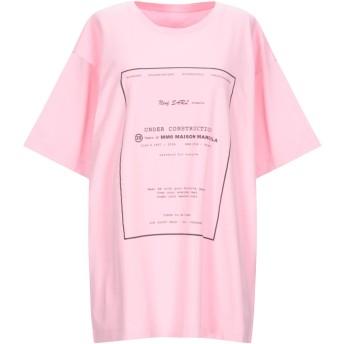 《9/20まで! 限定セール開催中》MM6 MAISON MARGIELA レディース T シャツ ピンク L コットン 100% / ポリウレタン