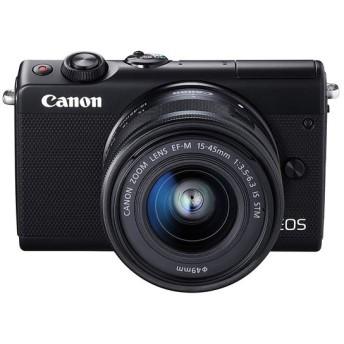 【新品訳あり(欠品あり)】 Canon製 ミラーレス一眼カメラ EOS M100 EF-M15-45 IS STM レンズキット ブラック