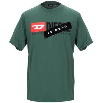 《期間限定セール開催中!》DIESEL メンズ T シャツ ダークグリーン XS コットン 100%
