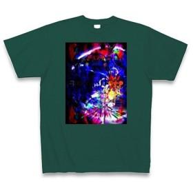 有効的異常症候群行動◆アート文字◆ロゴ◆ヘビーウェイト◆半袖◆Tシャツ◆ディープグリーン◆各サイズ選択可