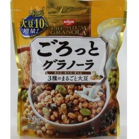 日清シスコ ごろっとグラノーラ3種のまるごと大豆 400g まとめ買い(×6)  4901620161125 (tc)