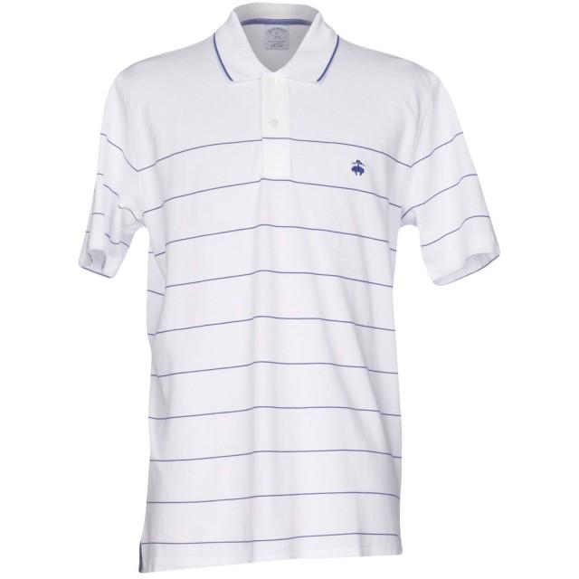 《セール開催中》BROOKS BROTHERS メンズ ポロシャツ ホワイト S コットン 100%