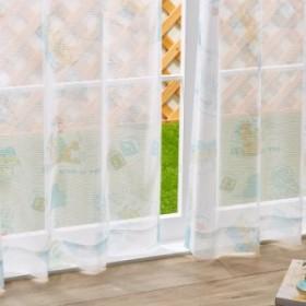 トイストーリー レースカーテン 2枚組 幅100cm 丈135cm 丈178cm 丈200cm 洗える ウォッシャブル 北欧 Disney ディズニー(代引不可)【送料