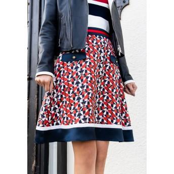 LOVELESS 【LOVELESS】WOMEN ジオメトリックフレアスカート その他 スカート,ネイビー2
