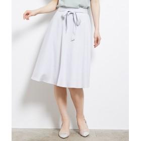 ROPE' PICNIC ペピクニック 麻調リボン付きフレアスカート