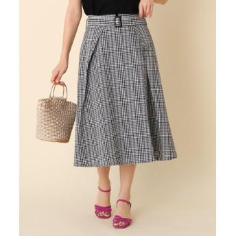 Couture Brooch(クチュールブローチ) 【WEB限定サイズ(S・LL)あり/洗える】サッカーチェックスカート