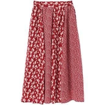 ・フラワーパッチワーク切替スカート
