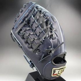 2019年モデル ゼット 軟式グラブ 外野手用 左投げ プロステイタス BRGB30917(1900N)ナイトブラック