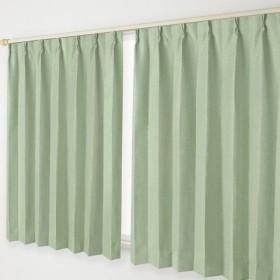 ナチュラル遮光カーテン Bフック 幅100×丈135cm 2枚組 05.緑