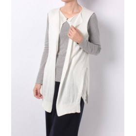 (SHIPS OUTLET/シップス アウトレット)【SHIPS】MAISON.F:LAYERED KNIT VEST/レディース ホワイト