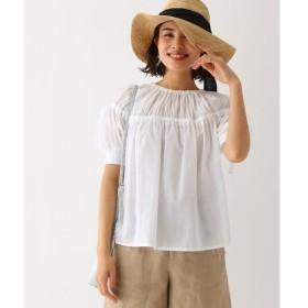 aquagirl / アクアガール MUVEIL WORK シアギャザーシャツ