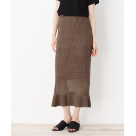 OPAQUE.CLIP(オペークドットクリップ) 刺繍マーメイドスカート