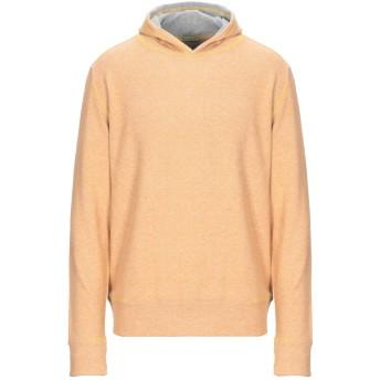 《期間限定セール開催中!》PRIVATE LIVES メンズ スウェットシャツ キャメル M コットン 100%