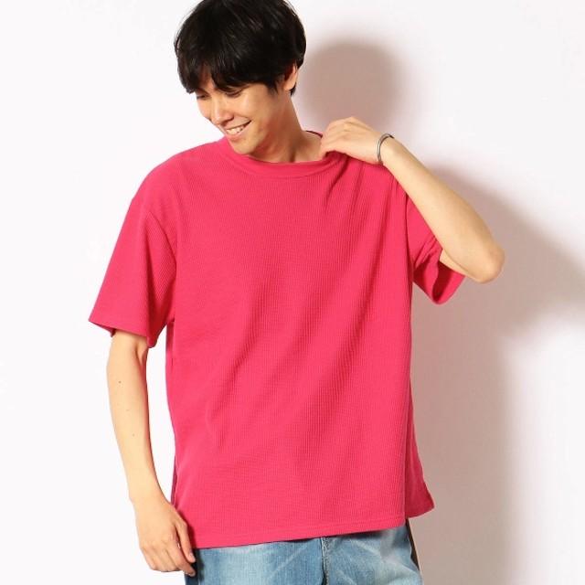 [マルイ] ワッフル ワイドシルエット Tシャツ/パープル&イエロー(Purple & Yellow)
