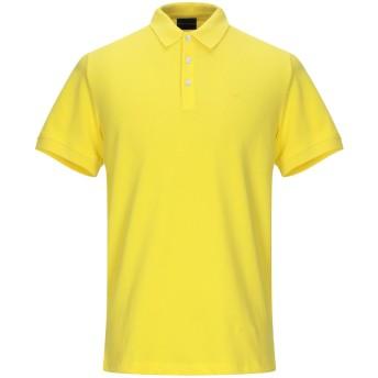 《期間限定セール開催中!》EMPORIO ARMANI メンズ ポロシャツ イエロー L コットン 100%
