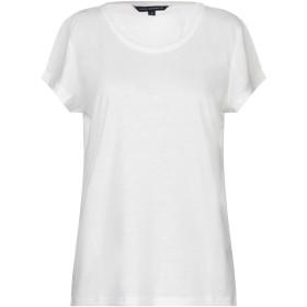 《期間限定 セール開催中》FRENCH CONNECTION レディース T シャツ ホワイト L ポリエステル 80% / 麻 20%