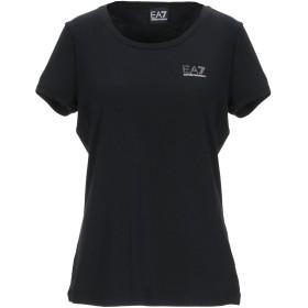 《9/20まで! 限定セール開催中》EA7 レディース T シャツ ブラック XXS コットン 48% / レーヨン 47% / ポリウレタン 5%