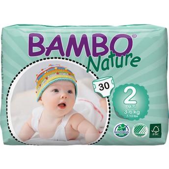BAMBO Nature プレミアム紙おむつ ミニ 2号 テープ レギュラー (30枚入)