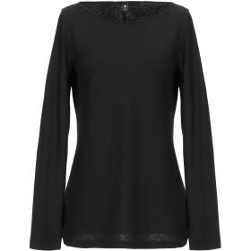 《期間限定セール開催中!》EUROPEAN CULTURE レディース T シャツ ブラック XS コットン 100%
