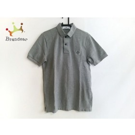 ストーンアイランド STONE ISLAND 半袖ポロシャツ サイズSLIM FIT メンズ 美品 グレー   スペシャル特価 20190821