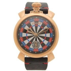 【返品OK】 ガガミラノ 腕時計 メンズ 自動巻き GAGA MILANO 5011LV03-BLK ブラック レッド マルチカラー