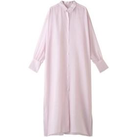 SALE 【50%OFF】 Whim Gazette ウィム ガゼット シアーストライプシャツワンピース ピンク