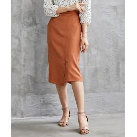 【ジョーゼットシリーズ】ラップ風タイトスカート(セットアップ対応) (ひざ丈スカート),skirt